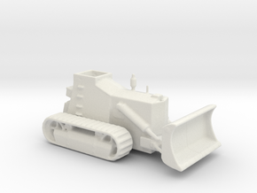 Armoured Bulldozer  d7 1/100 ww2  in White Natural Versatile Plastic