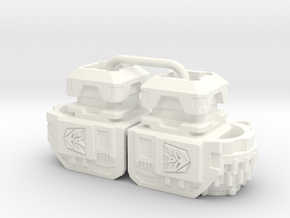 Terror Combiner's Wide Shoulders in White Processed Versatile Plastic