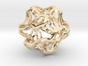Symmetrical Sphere Twisted  in 14k Gold Plated Brass