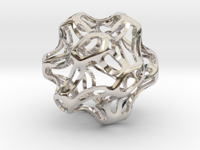 Symmetrical Sphere Twisted  in Rhodium Plated Brass