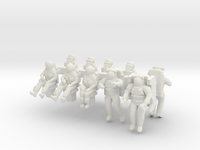 Space Shuttle Crew Combo 1:144 / 1:72 in White Natural Versatile Plastic: 1:144