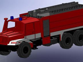 Zetros 6x6 Feuerwehr TFL 1:120 in Smooth Fine Detail Plastic