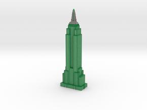 Empire State Building - Dark Green w White Windows in Full Color Sandstone