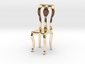 Dining Chair in 14K Yellow Gold: Small