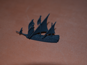 1/1000 Pirate Ship in Black Natural Versatile Plastic