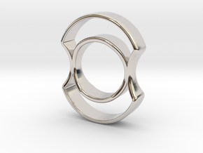 Micro Spinner in Rhodium Plated Brass