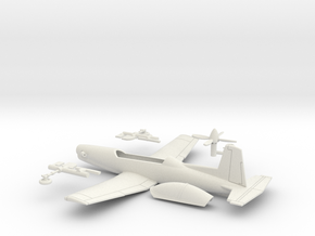 014F Pilatus PC-9 1/87 in White Natural Versatile Plastic