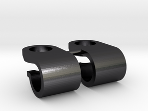 Support de gyrophare Pistenking pour rampe de 5mm  in Polished and Bronzed Black Steel