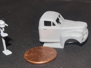 1949 Nash Truck 2 Ready For Shapeways in Smooth Fine Detail Plastic