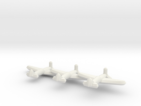Dewoitine D.551 (Triplet) 1/900 in White Natural Versatile Plastic