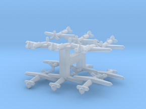 Dewoitine D.551 (Triplet) 1/900 x4 in Smooth Fine Detail Plastic