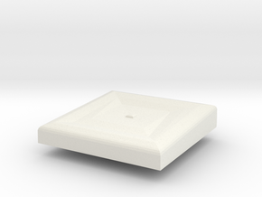 Cushion in White Natural Versatile Plastic