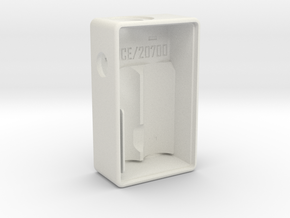 #approved 20700 Mech Squonk Box Mod in White Natural Versatile Plastic