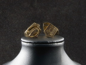 Superman cufflinks in Natural Bronze