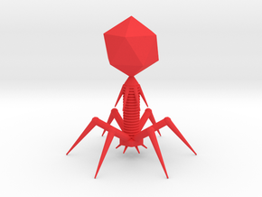 Bacteriophage in Red Strong & Flexible Polished