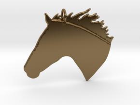 the Chanto Pendant - Precious Metals in Polished Bronze