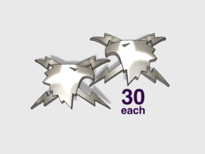 60x Thunder Eagles : Shoulder Insignia pack in Smooth Fine Detail Plastic