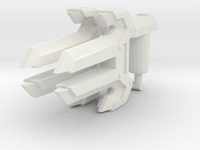 Energon Knuckles (Set of 2, 5mm) in White Premium Versatile Plastic