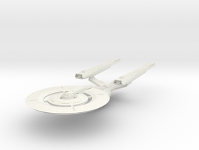 Federation Hood Class II refit HvyCruiser in White Natural Versatile Plastic