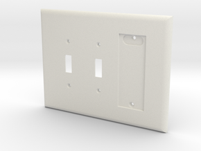 Philips Hue Dimmer 3 Gang Switch Plate R in White Strong & Flexible