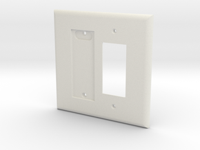 Philips Hue Dimmer Plate 2 Gang Decora Switch Plat in White Natural Versatile Plastic