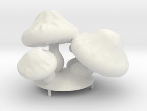 Mushroom Flash Lamp in White Natural Versatile Plastic