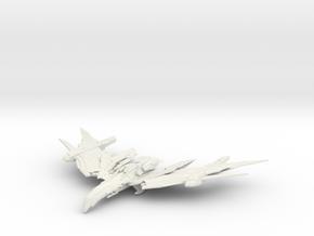 Romulan FireBird Class  HvyCruiser Large in White Natural Versatile Plastic