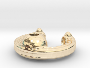 The deep space ring-station in 14k Gold Plated Brass