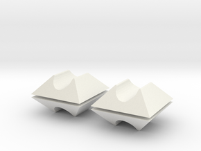 "3/8"" Hairpin Leg Floor Protectors in White Natural Versatile Plastic"