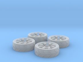 Printle Thing Car Wheels n°02 - 1/87 in Smooth Fine Detail Plastic