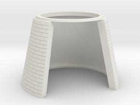 HOF013 - Base for castle round tower HOF011 in White Natural Versatile Plastic