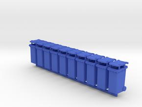 Trash bin Ver03. O Scale (1:48) in Blue Processed Versatile Plastic