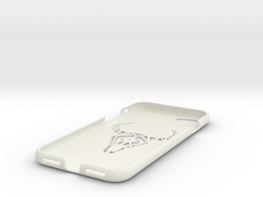 Iphone 7 Case, Geometric Bull in White Strong & Flexible