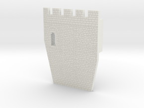 HOF033  - Castle wall 3 in White Natural Versatile Plastic