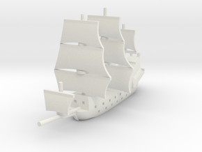 1/900 Galleon game piece 2 in White Natural Versatile Plastic