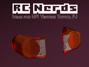 RCN100 Rear light lenses for HPI Venture Toyota  in Smooth Fine Detail Plastic