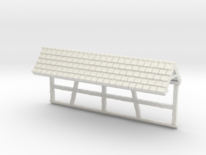 HOF035b - Roof for castle wall 5 in White Natural Versatile Plastic