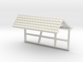 HOF036b - Roof for castle wall 6 in White Natural Versatile Plastic