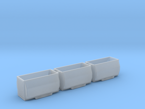 Hackschnitzelcontainer 3erSet - TT 1:120 in Smooth Fine Detail Plastic