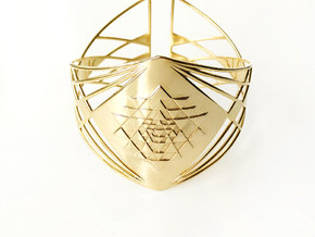 Sri Yantra Bracelet in 18k Gold Plated Brass