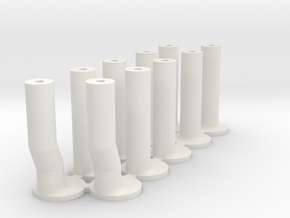 Slot Car universal body mounting posts MIXED in White Strong & Flexible