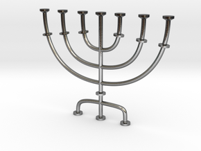 Menorah candlestick 1:12 scale model in Polished Silver