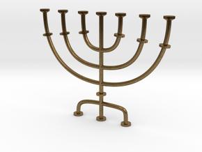 Menorah candlestick 1:12 scale model in Natural Bronze