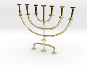 Menorah candlestick 1:12 scale model in 18k Gold Plated Brass