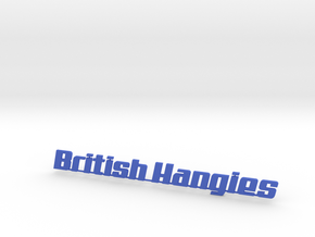 British Hangies Car Badge in Blue Processed Versatile Plastic