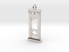 Guillotine Pendant in Rhodium Plated Brass