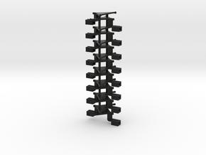 #00Q1 Kurzkupplungsdeichsel 01 (8 Paar) in Black Natural Versatile Plastic