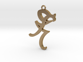 Shadow Hunters Iratze Pendant in Polished Gold Steel