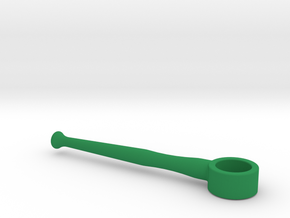 Horn Mouthpiece Rim Handle Trainer - 0.67 Inch ID in Green Processed Versatile Plastic