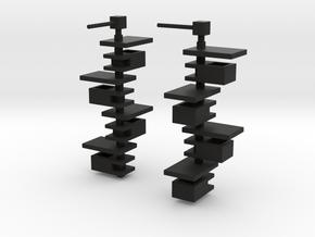 Taliesin Lamp Earrings in Black Premium Strong & Flexible: Extra Small